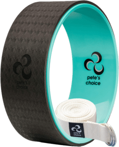 pete's choice Yoga Wheels with Yoga Strap & Exercise Guide