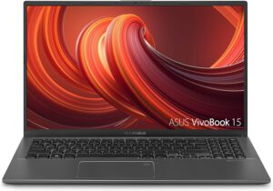 "ASUS F512JA-AS34 VivoBook 15 Thin and Light Laptop, 15.6"" FHD Display, Intel i3-1005G1 CPU, 8GB RAM, 128GB SSD, Backlit Keyboard, Fingerprint, Windows 10 Home in S Mode, Slate Gray"