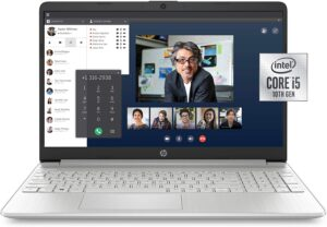 HP 15-dy1036nr 10th Gen Intel Core i5-1035G1, 15-Inch FHD Laptop, Natural Silver