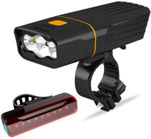 Gyhuego USB Rechargeable Bike Light set