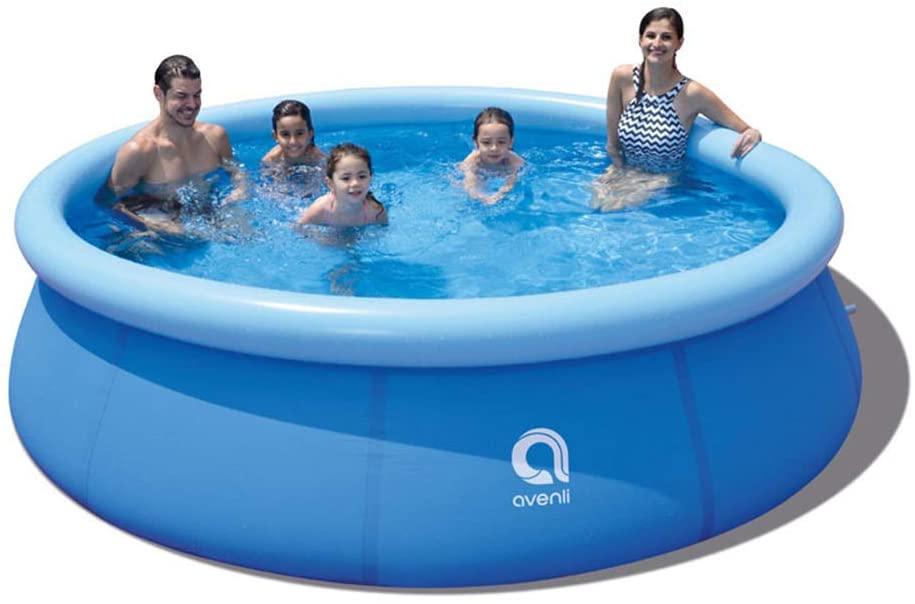 SELLERWE Inflatable Swimming Pool 10FT X30IN