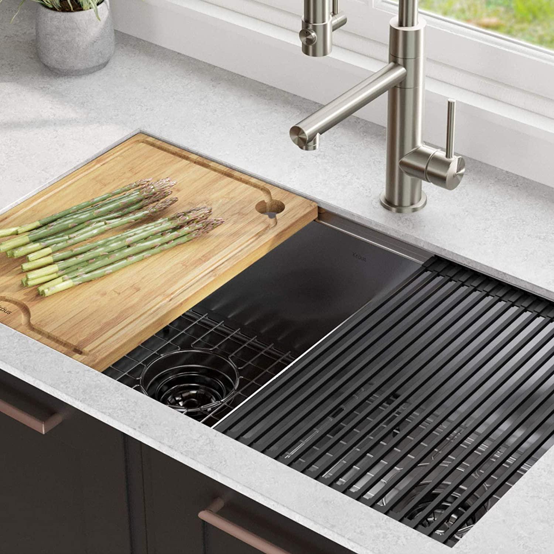 KRAUS KWU112-33 Kore Workstation 33-inch Kitchen Sink